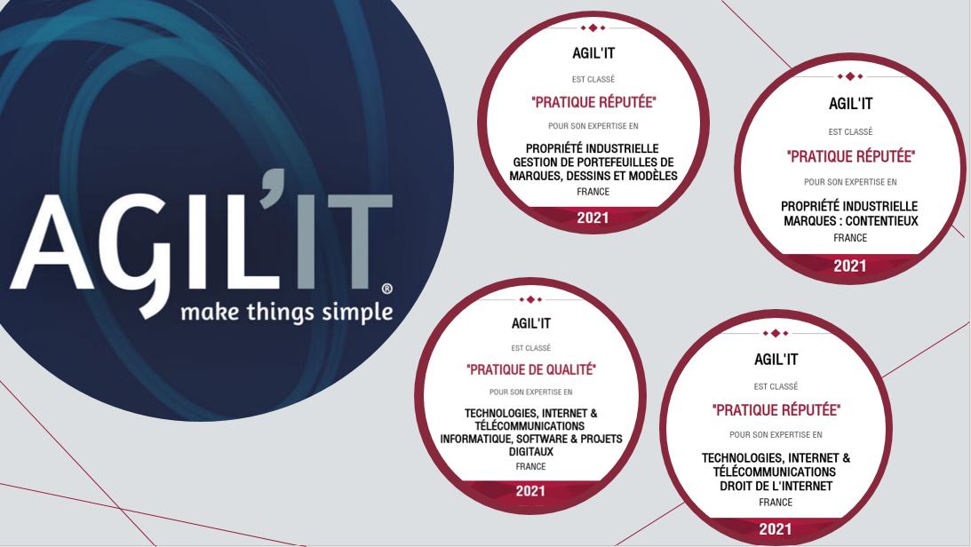 Les équipes IP/IT d'AGIL'IT distinguées dans le classement Décideurs 2021