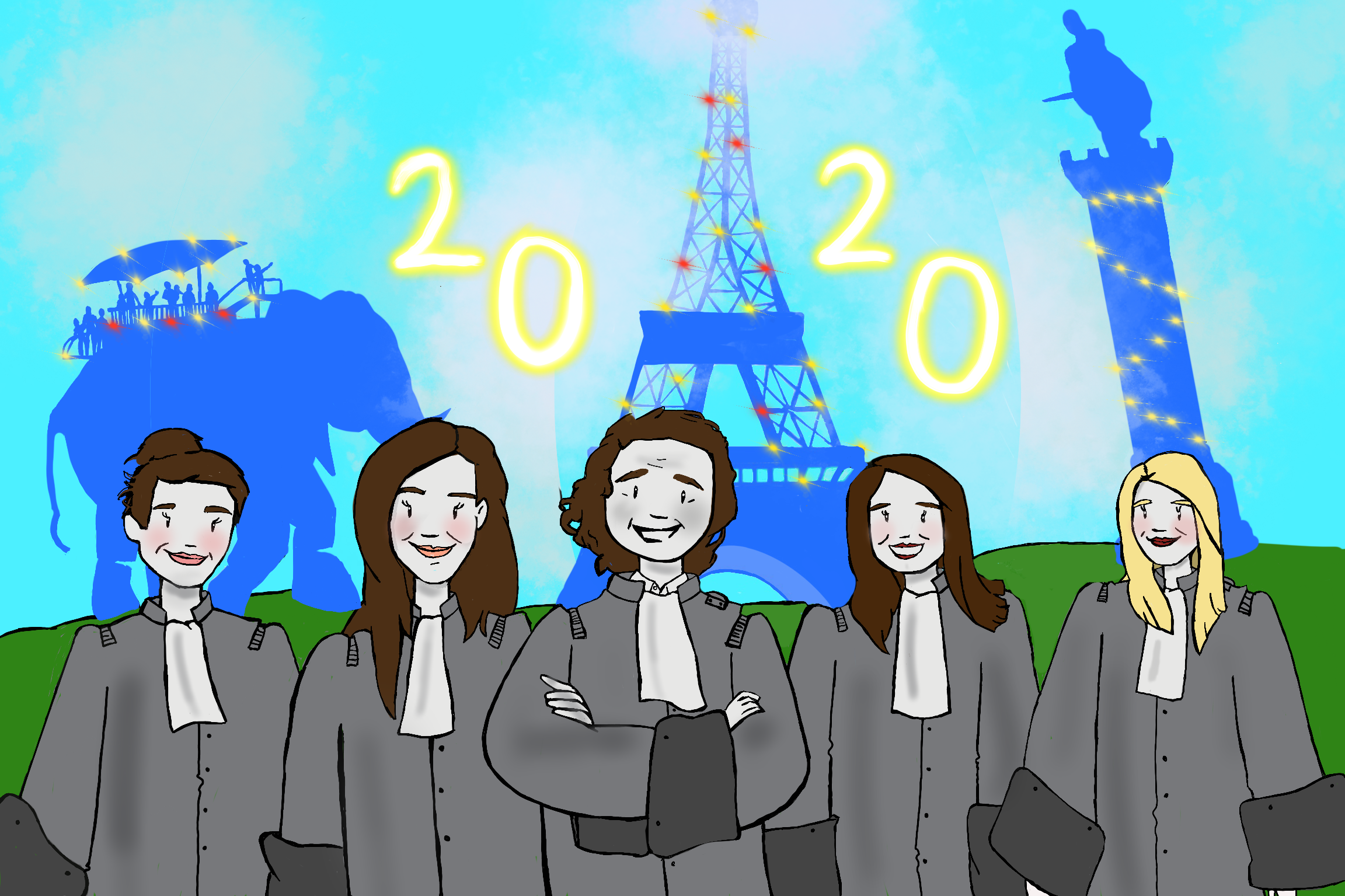 CHHUM AVOCATS (Paris, Nantes, Lille) : la carte de vœux 2020 du cabinet primée par le Village de la Justice