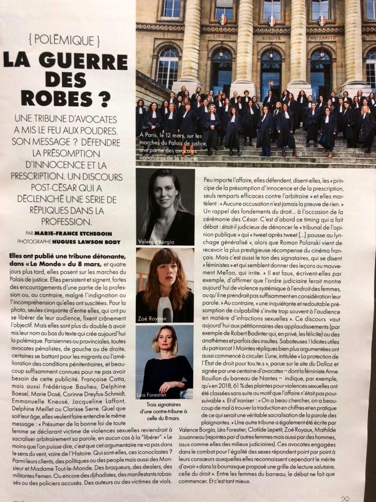 LA GUERRE DES ROBES ? Article ELLE du 20 mars 2020- Par Marie-France ETCHEGOIN