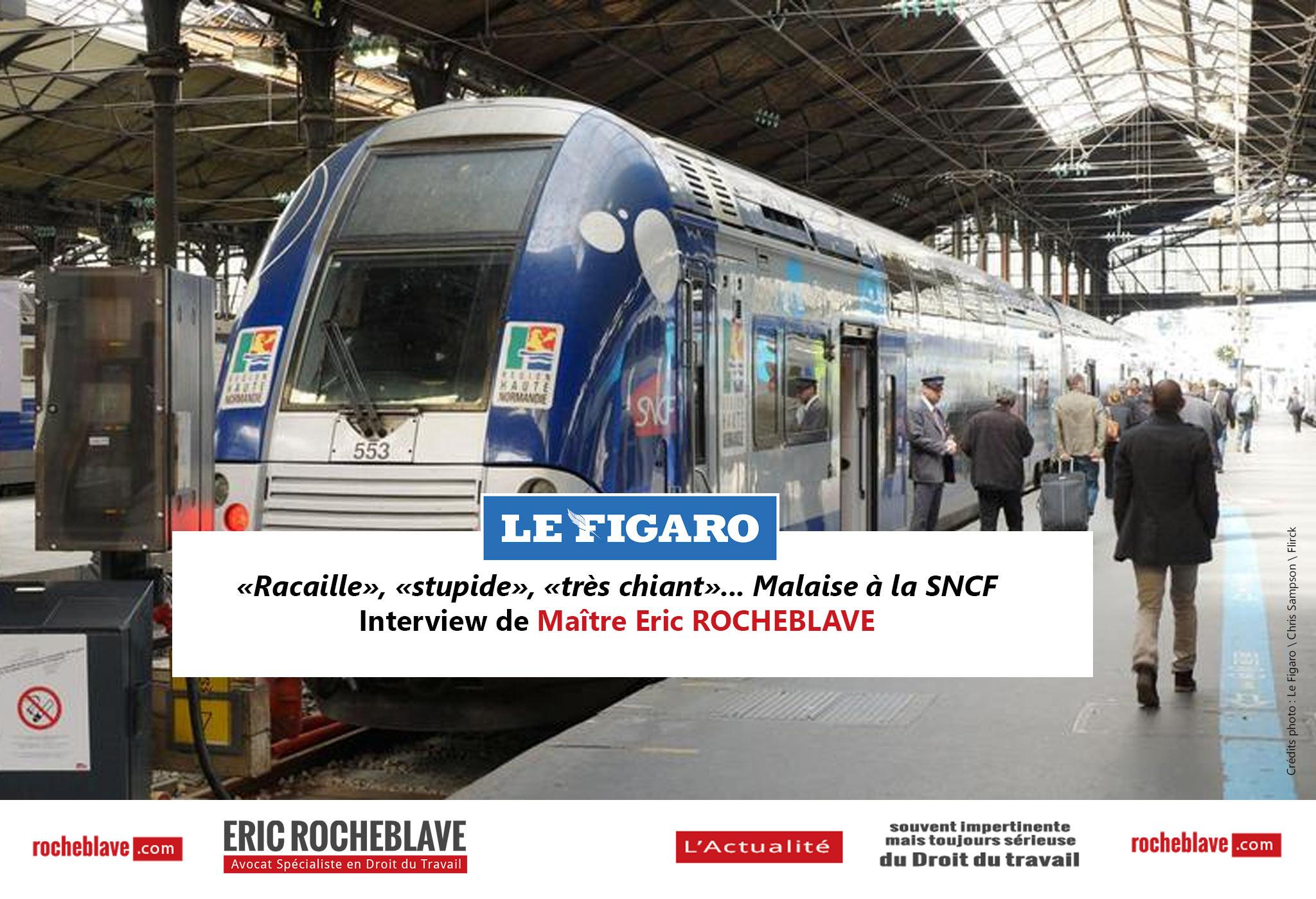 «Racaille», «stupide», «très chiant»… Malaise à la SNCF | Interview de Maître Eric ROCHEBLAVE – Le Figaro