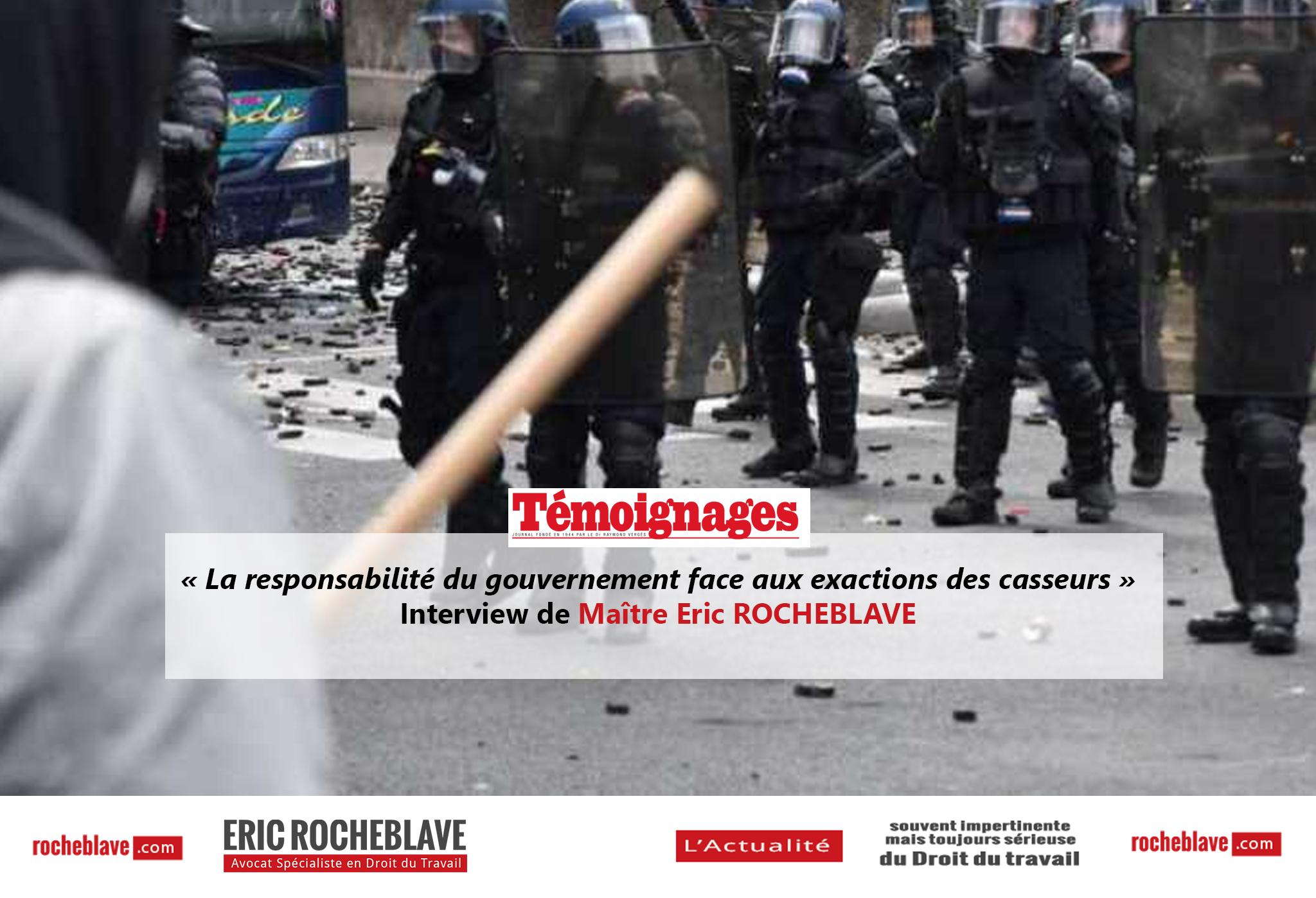 « La responsabilité du gouvernement face aux exactions des casseurs » Interview de Maître Eric ROCHEBLAVE | Témoignages (Journal de l'Île de La Réunion)