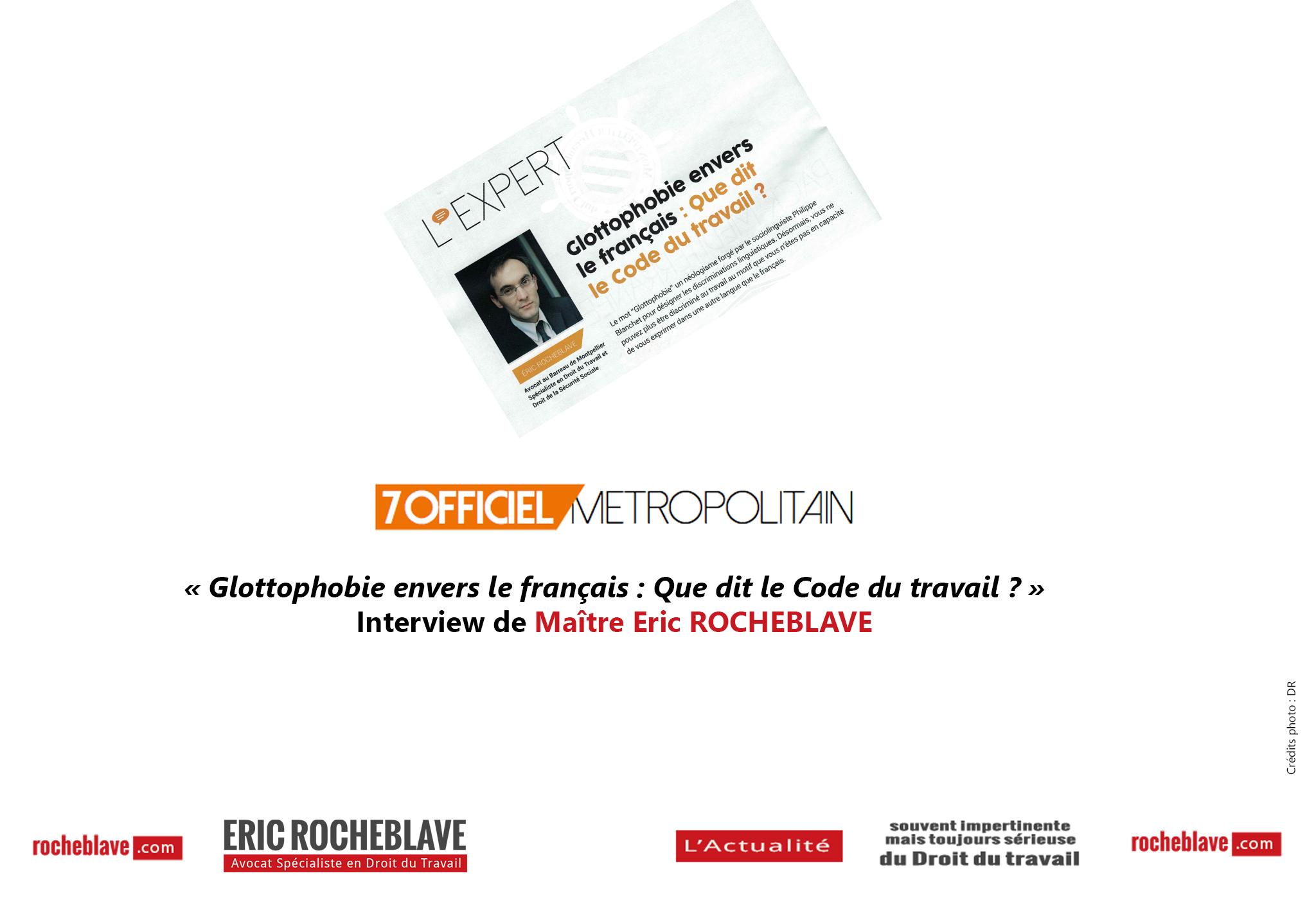 6a172629564 Glottophobie envers le français   Que dit le Code du travail   » Interview  de · «