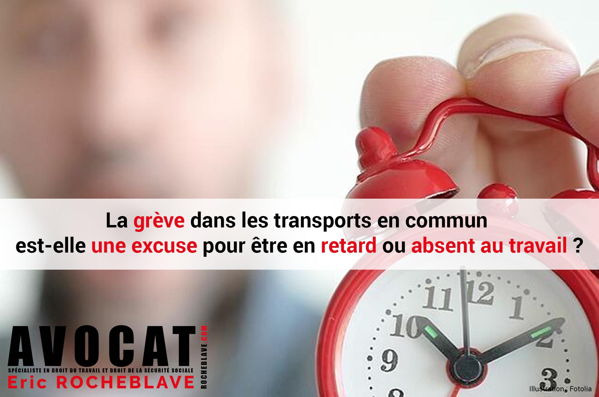 La grève dans les transports en commun est-elle une excuse pour être en retard ou absent au travail ?