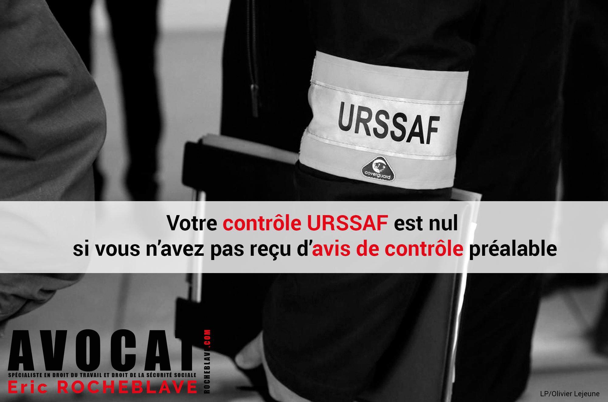 Votre contrôle URSSAF est nul si vous n'avez pas reçu d'avis de contrôle préalable