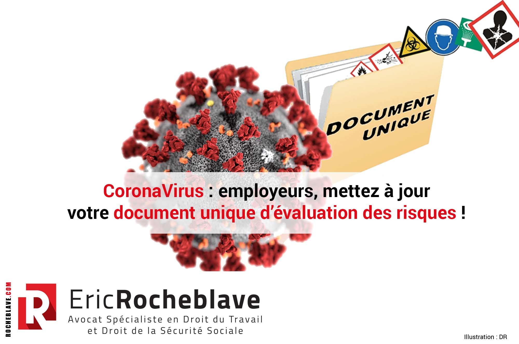 CoronaVirus : employeurs, mettez à jour votre document unique d'évaluation des risques !