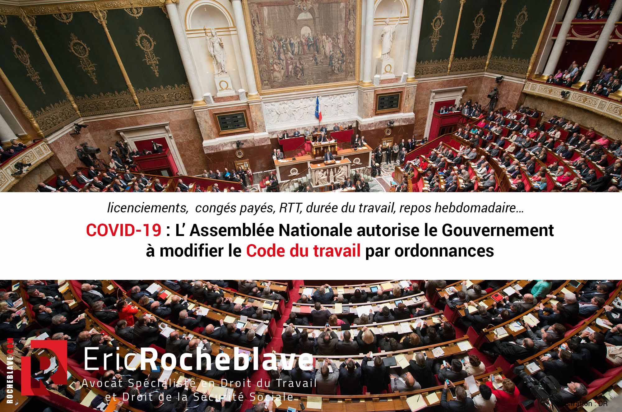 COVID-19 : L'Assemblée Nationale autorise le Gouvernement à modifier le Code du travail par ordonnances