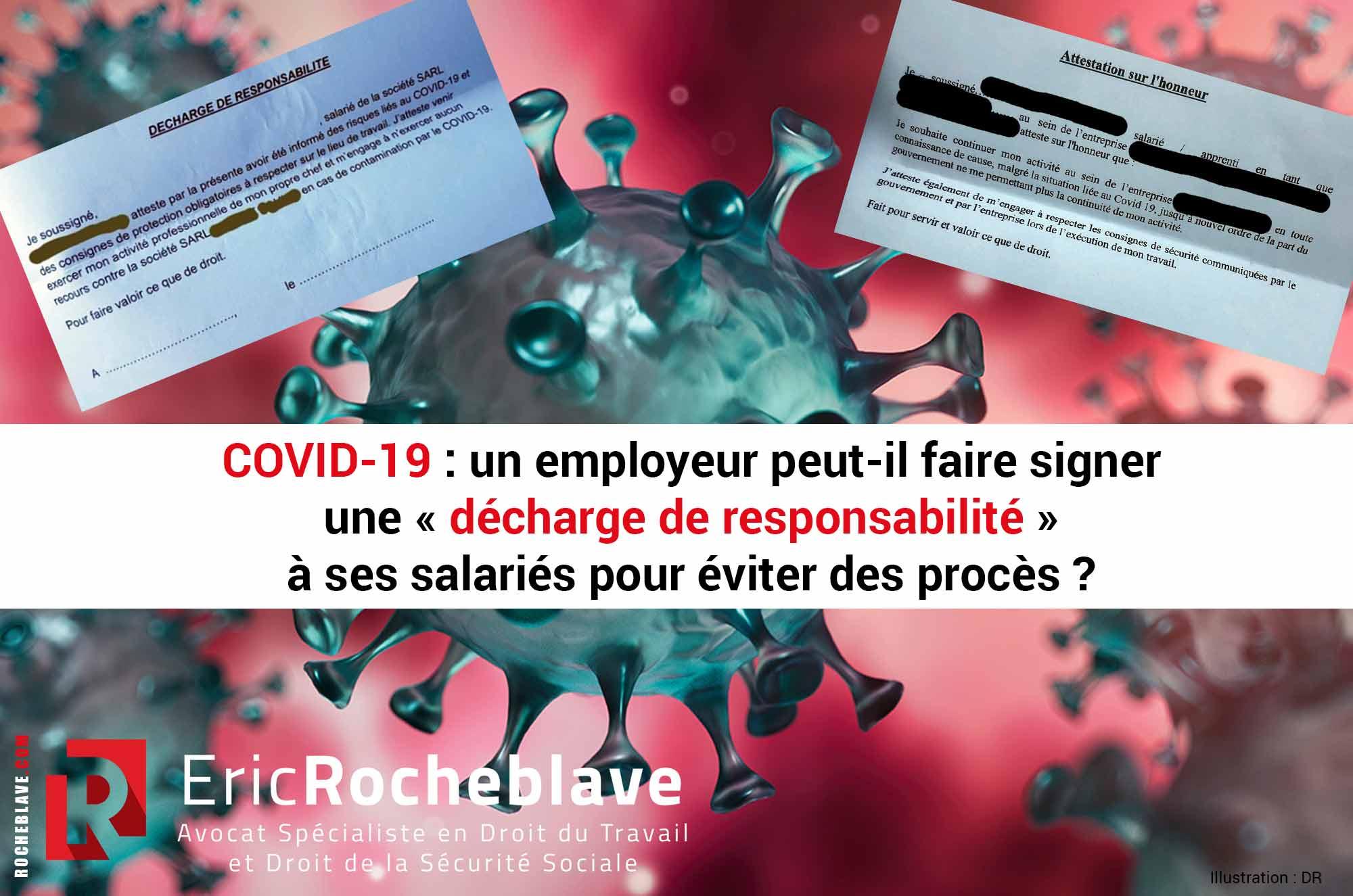 COVID-19 : un employeur peut-il faire signer une « décharge de responsabilité » à ses salariés pour éviter des procès ?