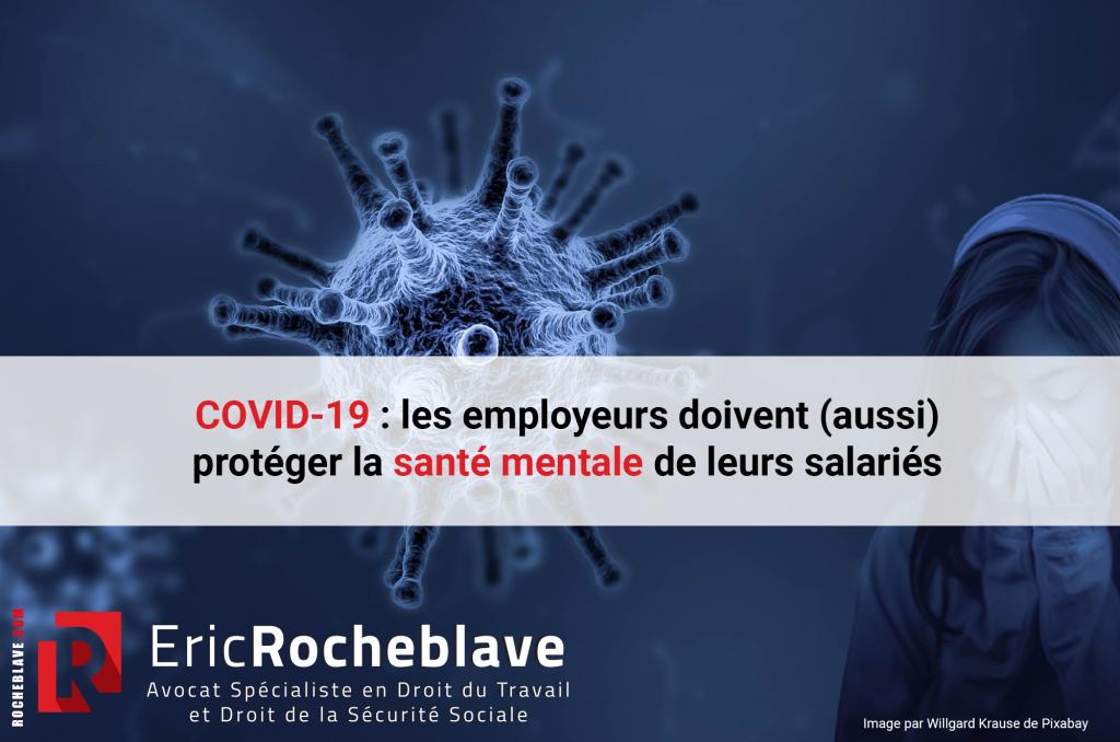 COVID-19 : les employeurs doivent (aussi) protéger la santé mentale de leurs salariés