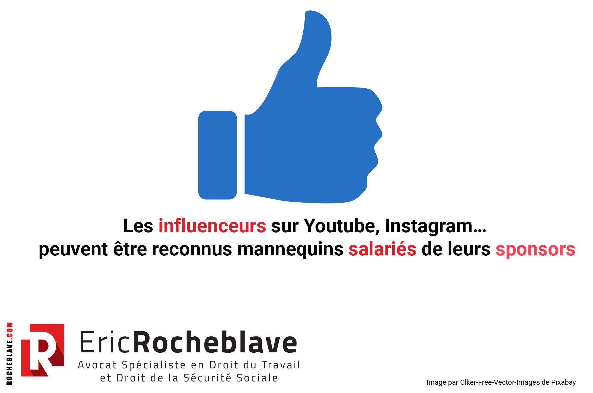 Les influenceurs sur Youtube, Instagram… peuvent être reconnus mannequins salariés de leurs sponsors