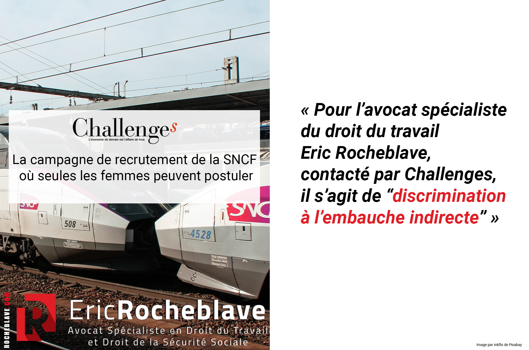 La campagne de recrutement de la SNCF où seules les femmes peuvent postuler