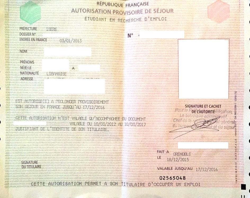 L'autorisation provisoire de séjour : étudiant et médical