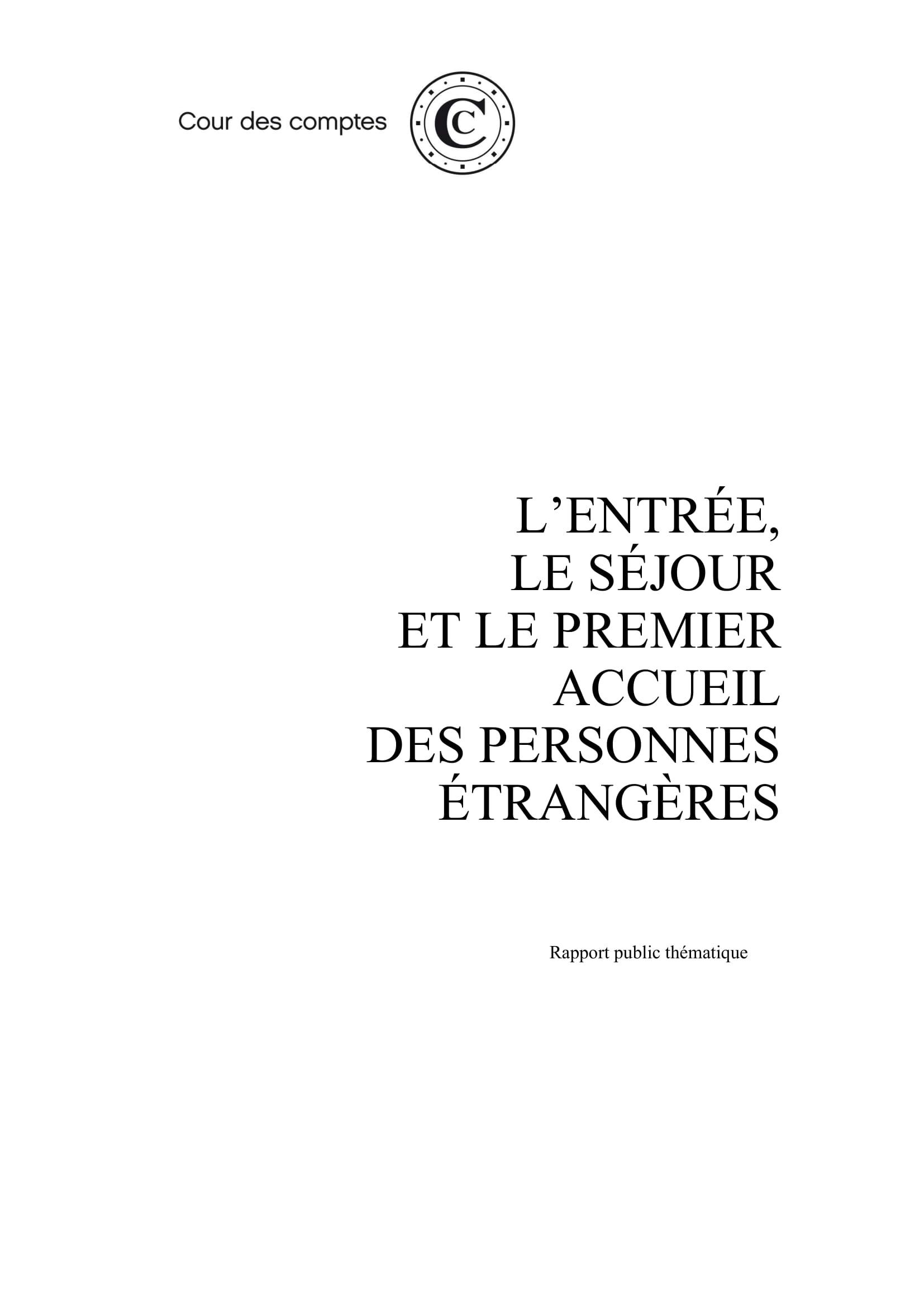 Rapport de la Cour des Comptes sur l'immigration en France : constats et recommandations