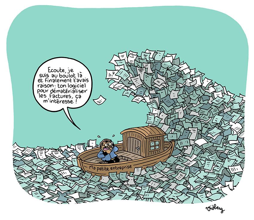 Dématérialisation des factures et contrôle fiscal...mieux vaut conserver les factures papier