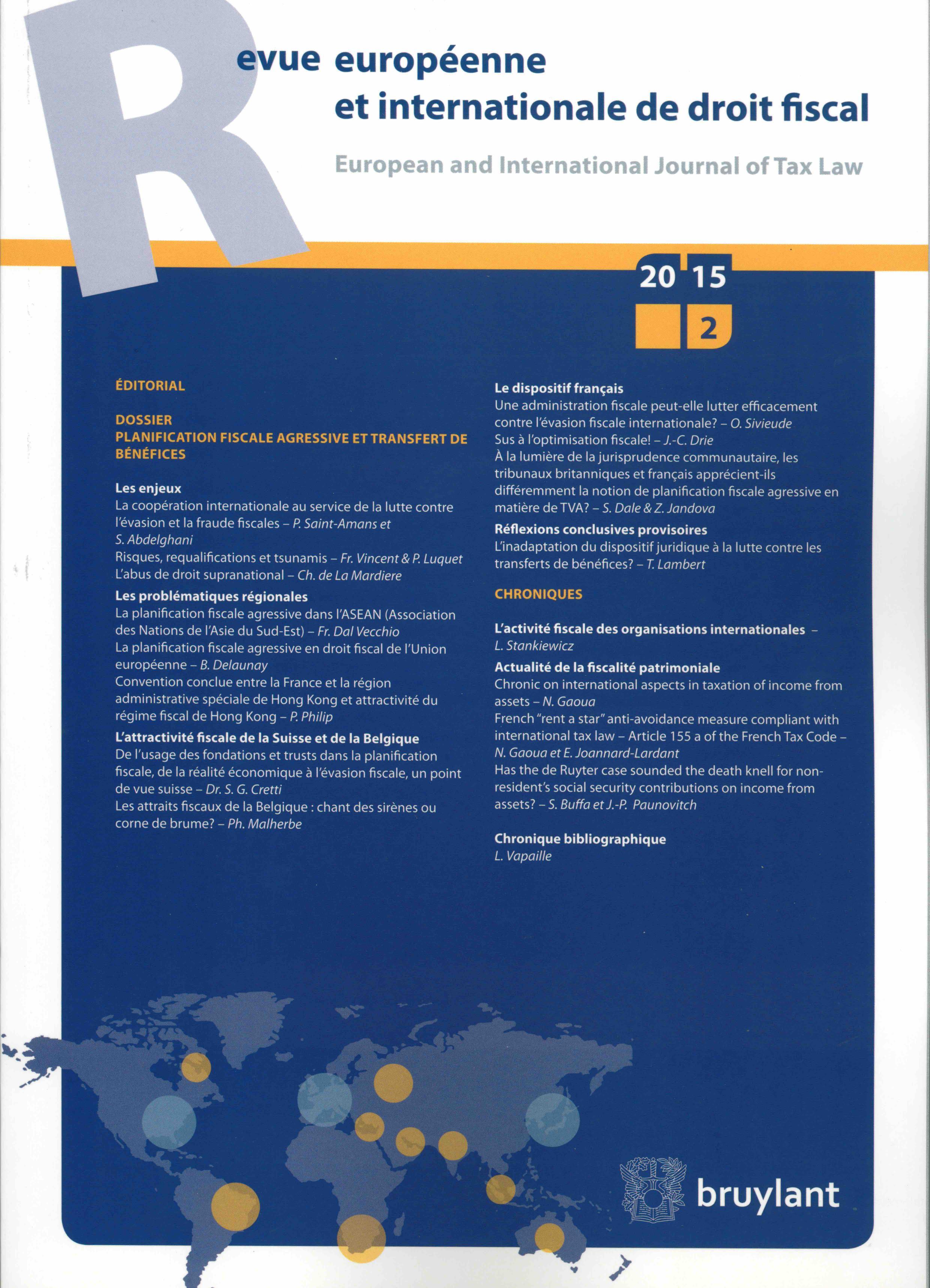 La planification fiscale agressive dans l'ASEAN (Association des Nations de l'Asie du Sud-Est)
