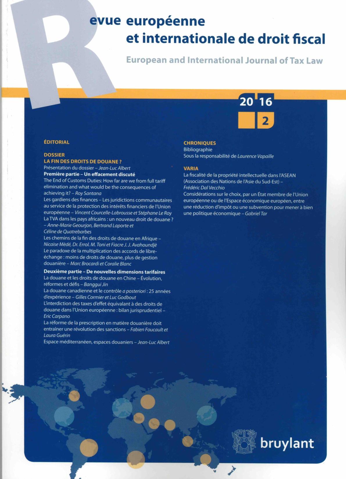 La fiscalité de la propriété intellectuelle dans l'ASEAN (Association des Nations de l'Asie du Sud-Est)