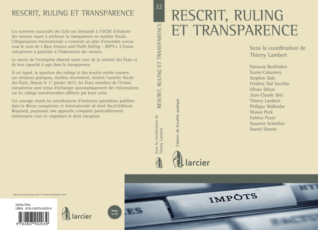 """Rescrit, ruling et transparence"""