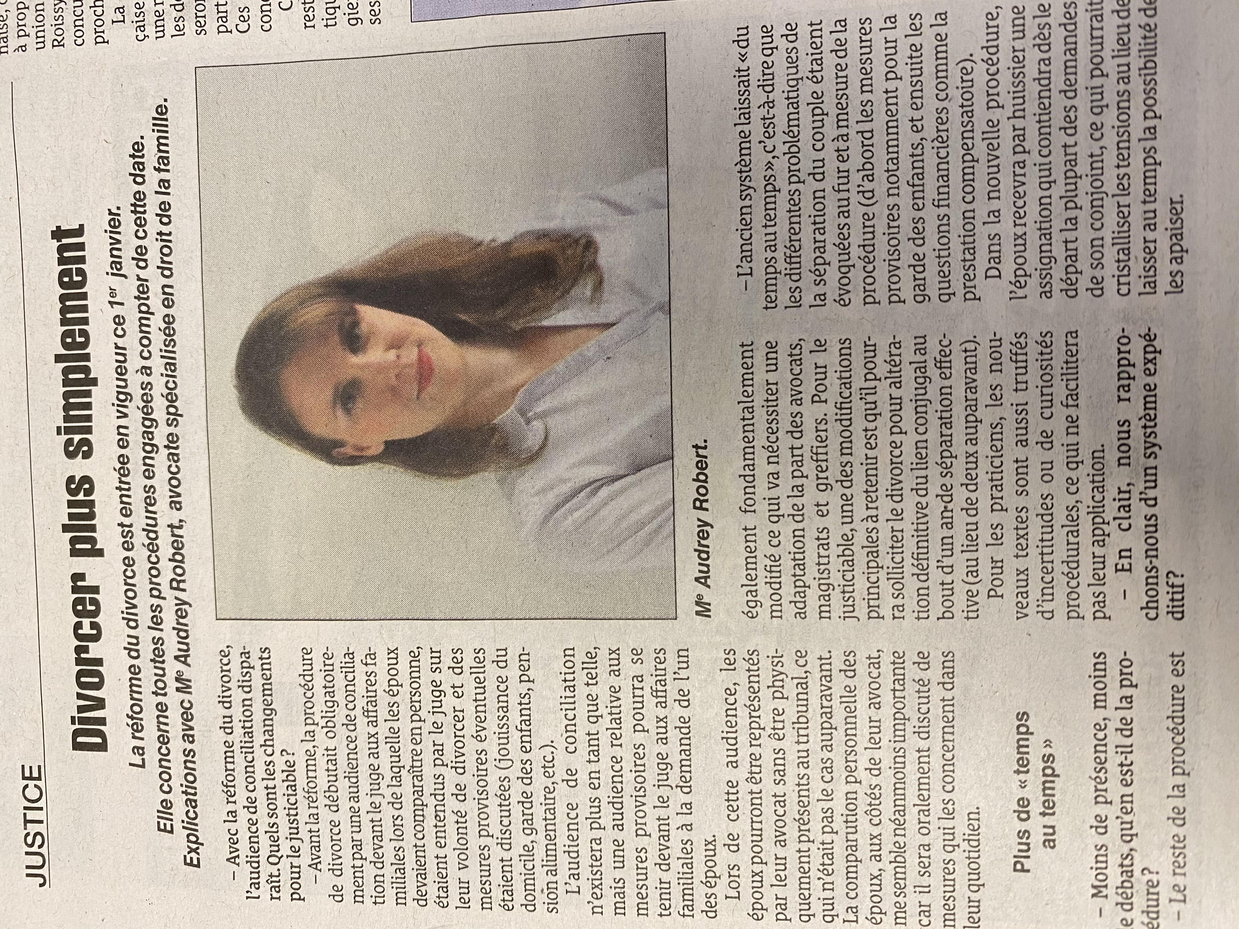 La réforme du divorce 2021 / Interview Le Quotidien de la Réunion
