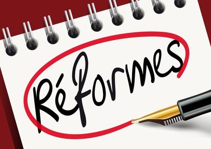 Le calendrier des réformes prévues par le gouvernement.