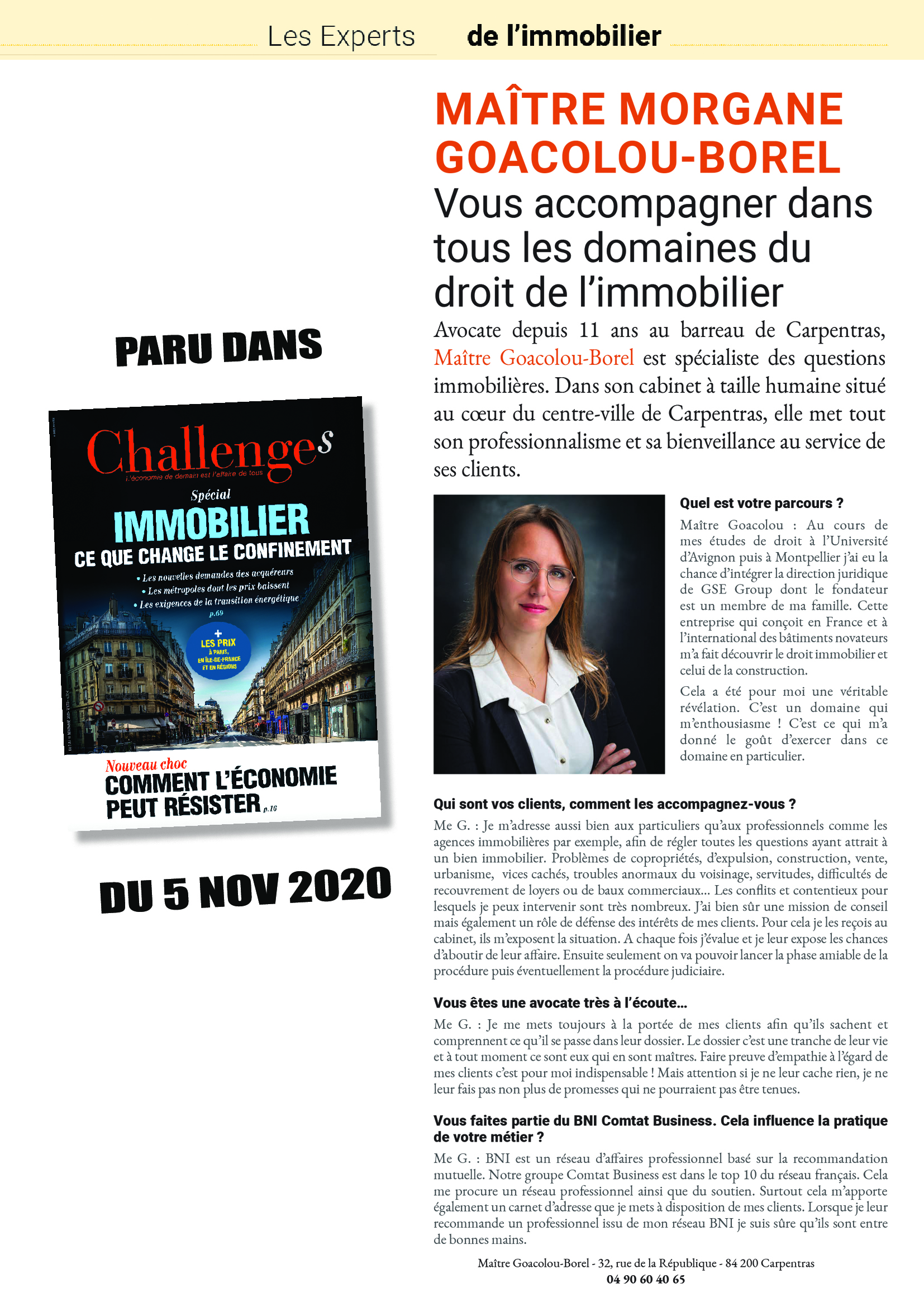 Challenge Magazine du 05 novembre 2020