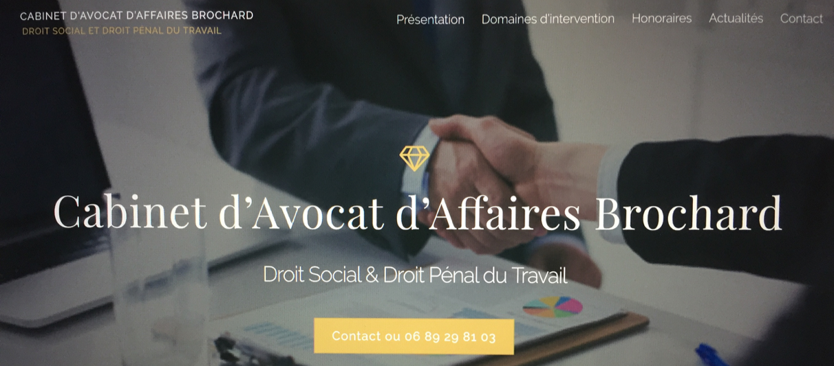 Lancement du cabinet Brochard-Avocat