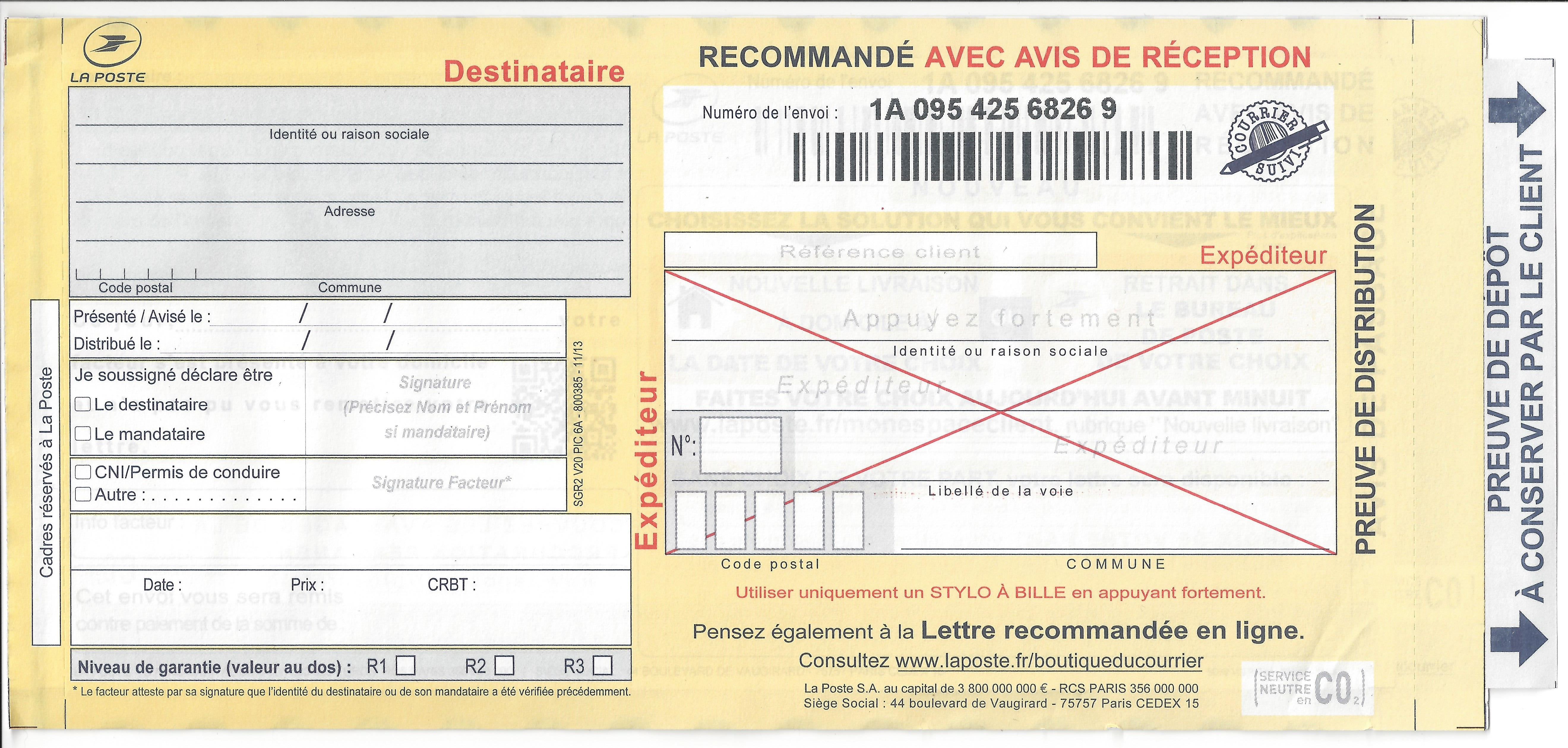 Notification du licenciement : attention au libellé de l'adresse du salarié !