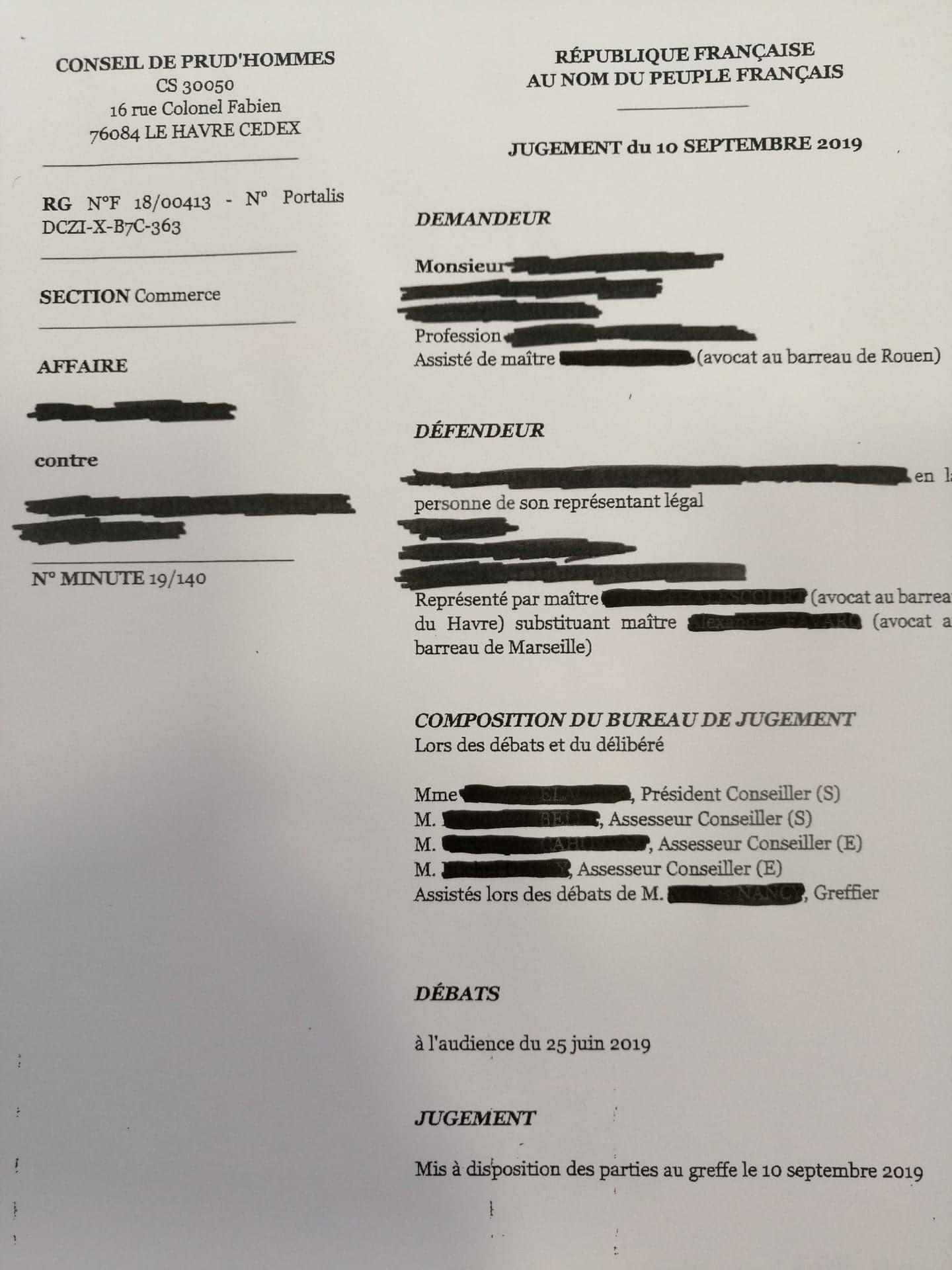 """Un nouveau Jugement écarte le """"barème Macron"""""""
