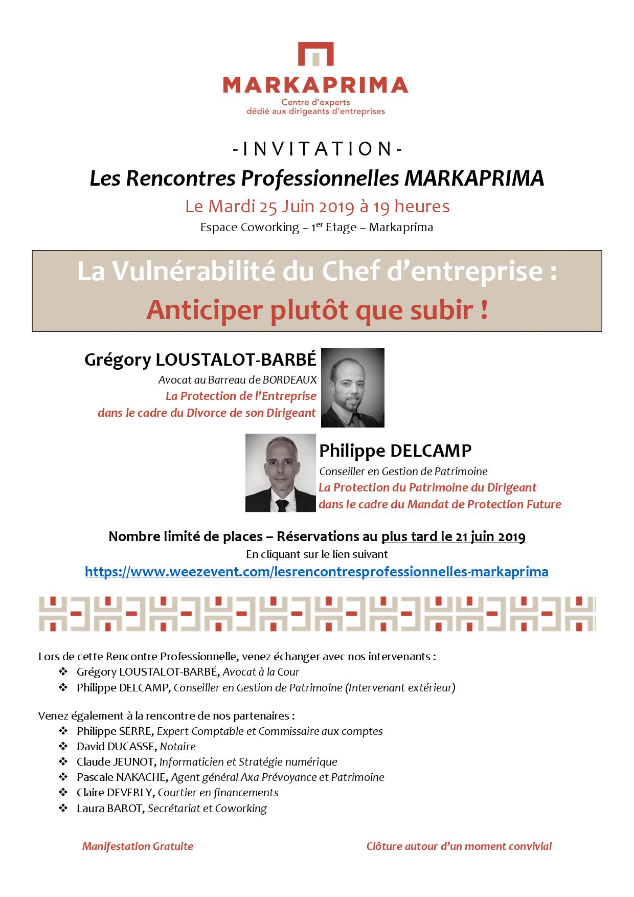 INVITATION RENCONTRE MARKAPRIMA