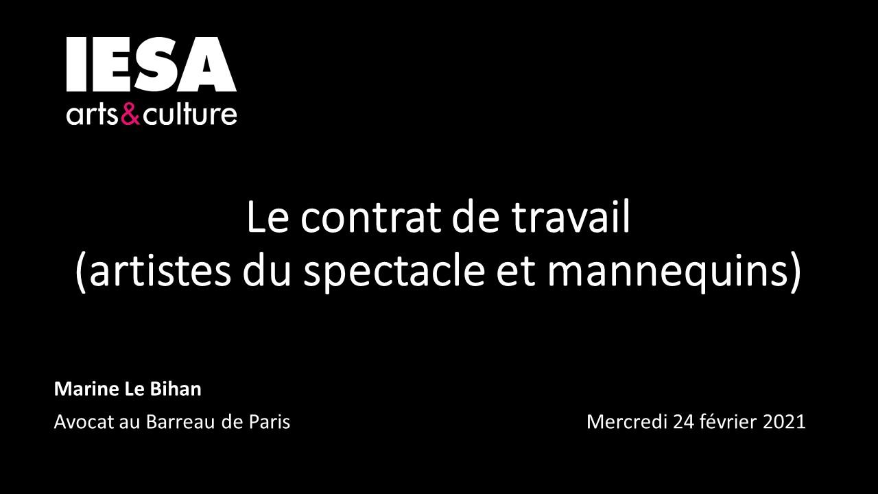 INTERVENTION A L'IESA LE 24.02.2021