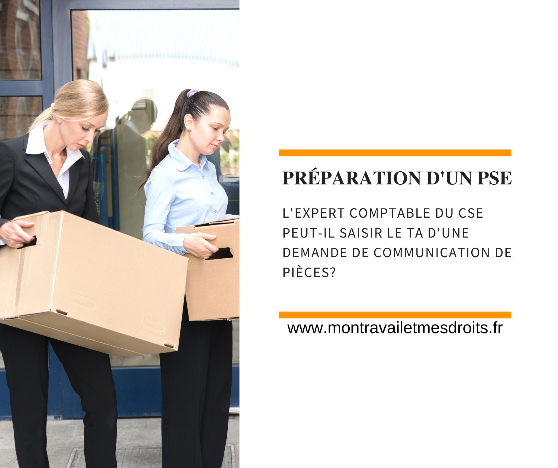 Préparation d'un PSE : l'expert-comptable du CSE peut-il saisir le tribunal administratif d'une demande de communication de pièces ?