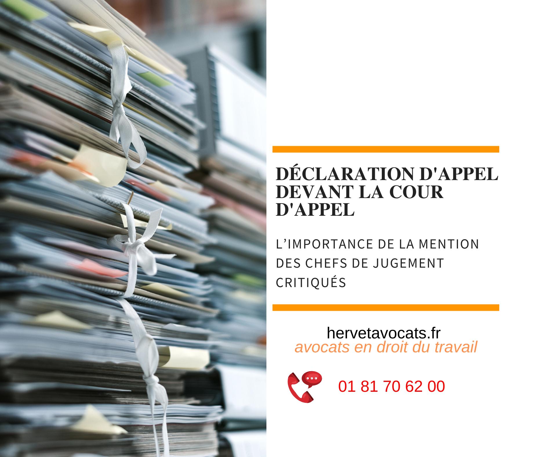 Procédure civile : l'importance de la mention des chefs de jugement critiqués dans l'appel d'une décision