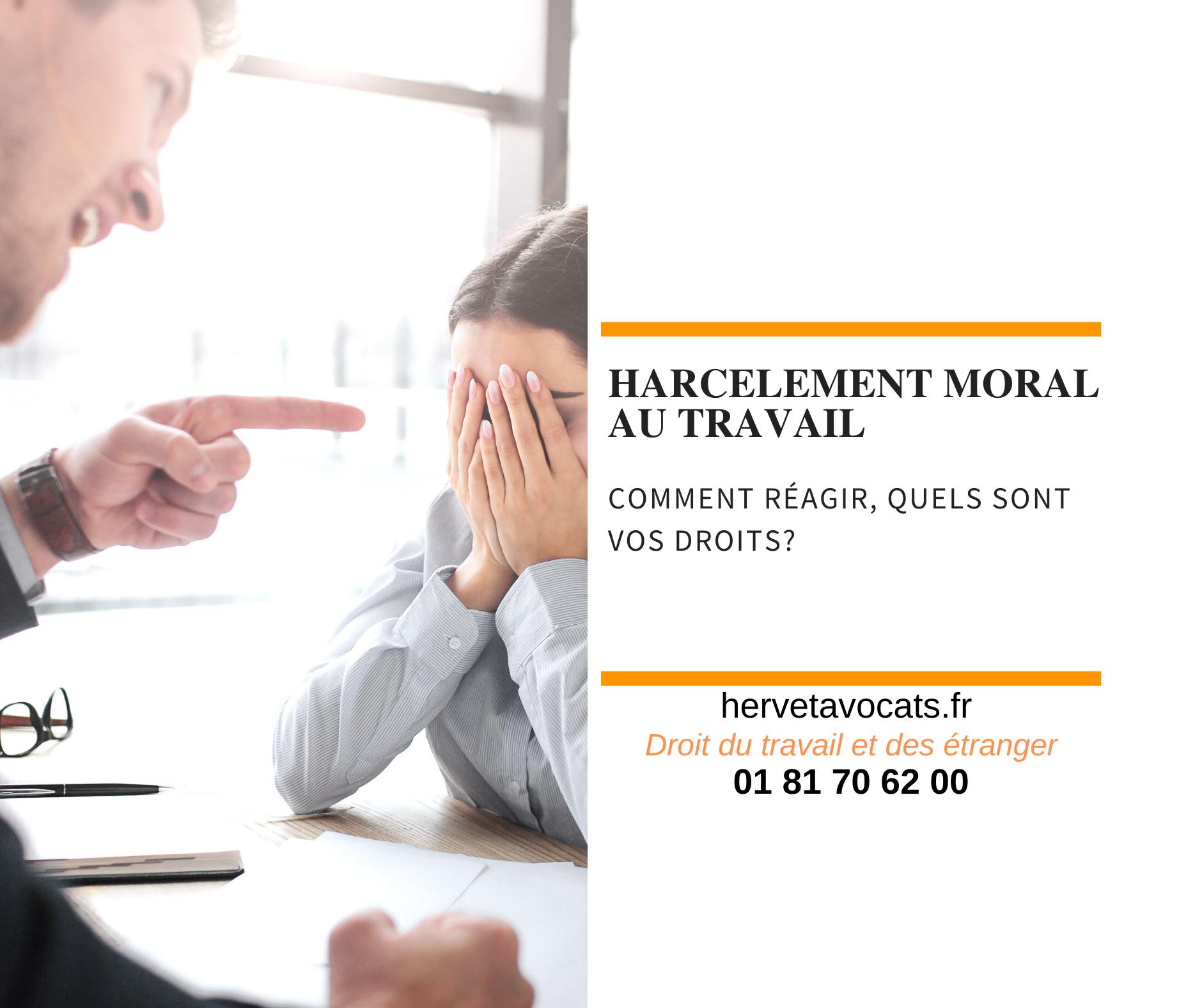Harcèlement moral au travail : quels sont vos droits ?