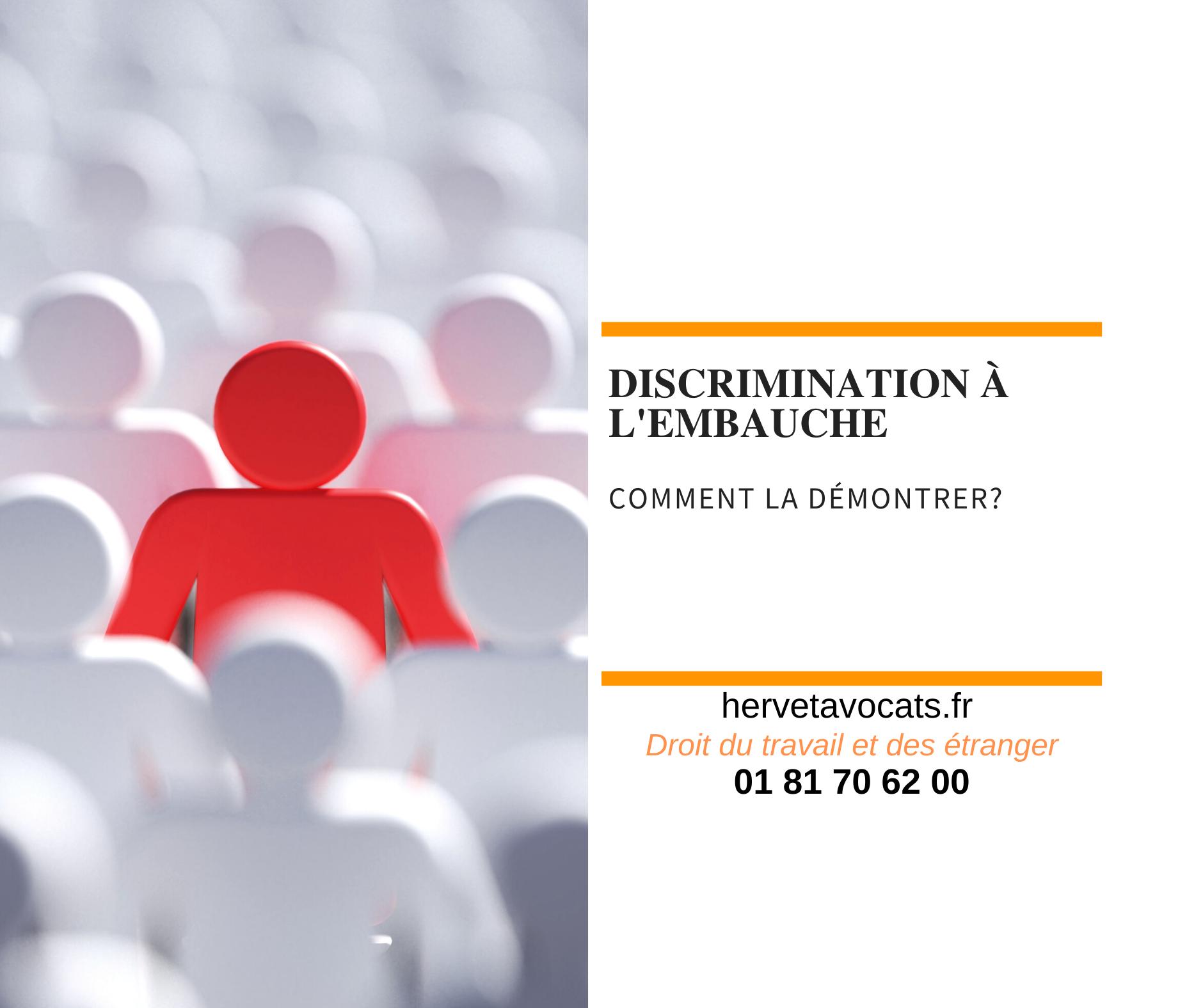 Quand peut-on considérer qu'il y a une discrimination à l'embauche ?