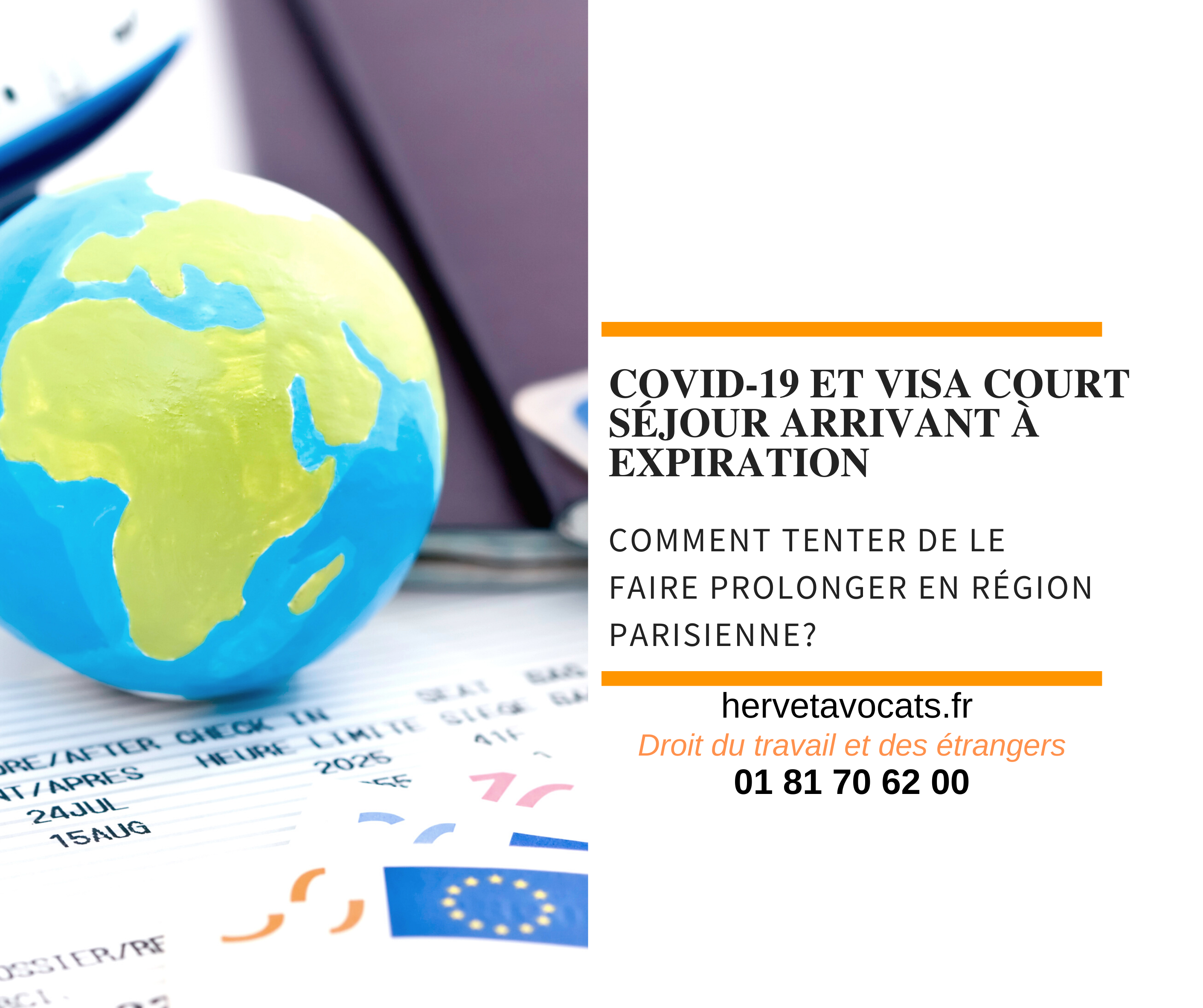 COVID 19 - Comment tenter de demander la prolongation des visas court-séjour en région parisienne?