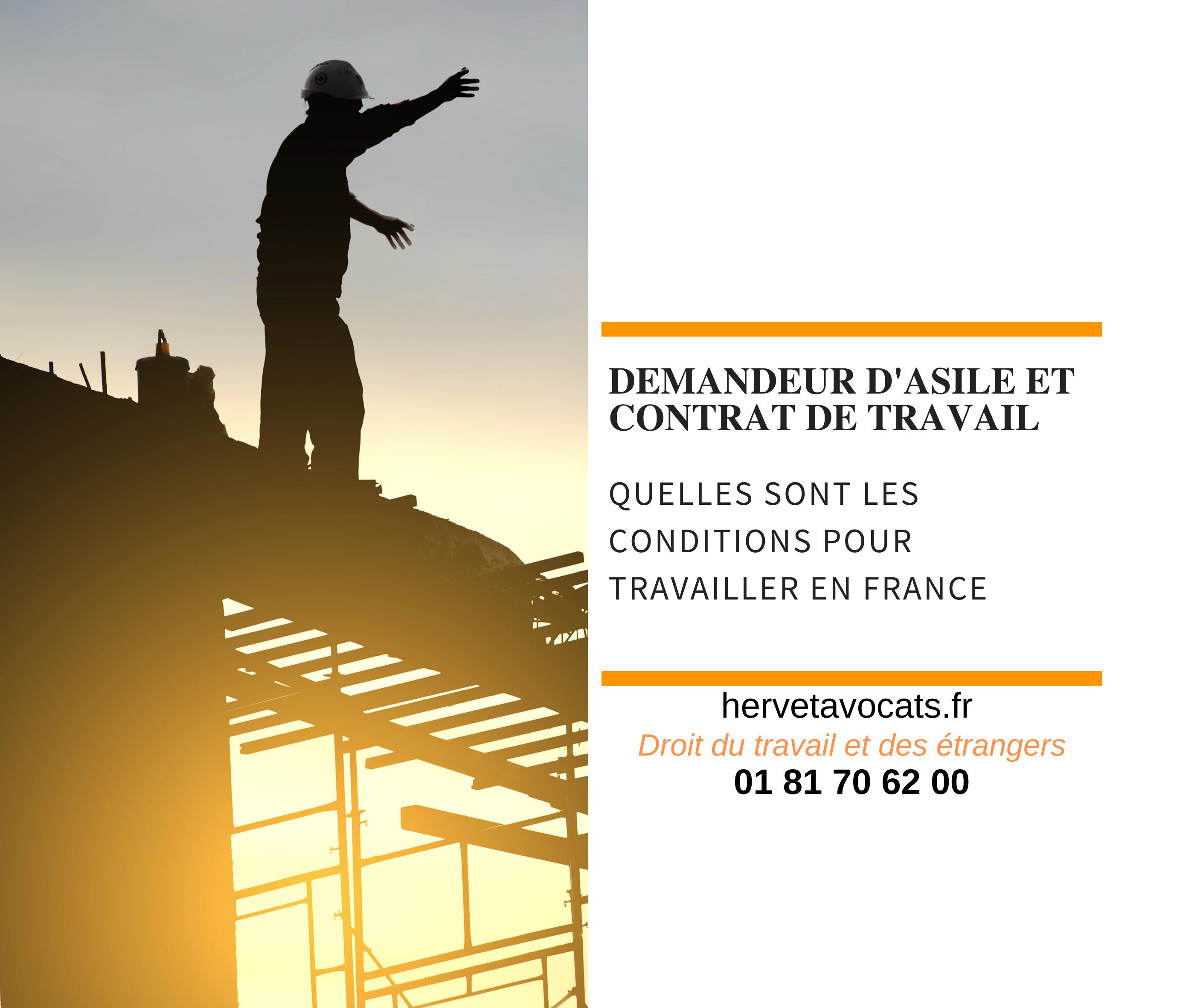 A quelles conditions un demandeur d'asile peut-il travailler en France ?
