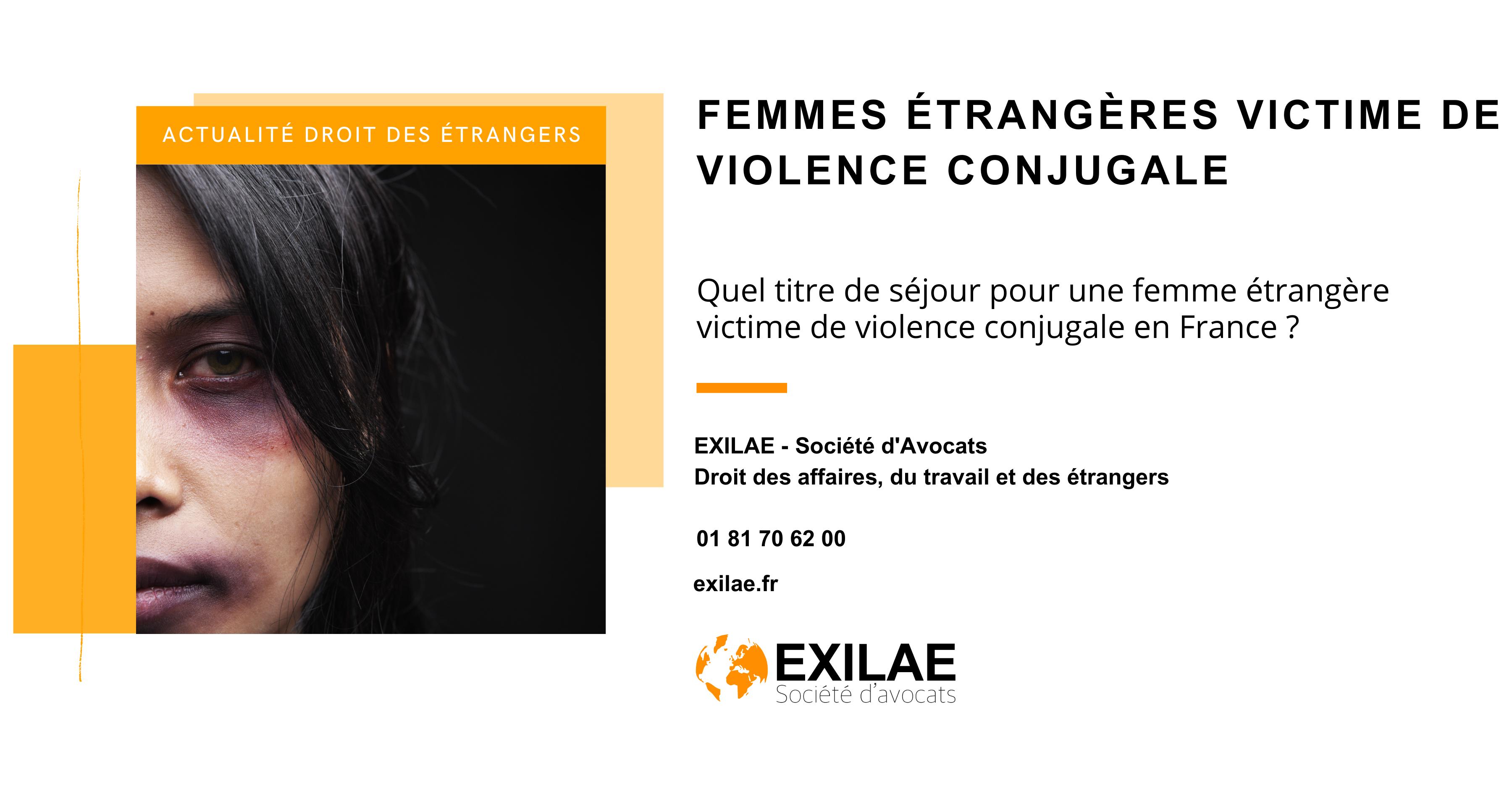 Quel titre de séjour pour une femme étrangère victime de violence conjugale en France ?