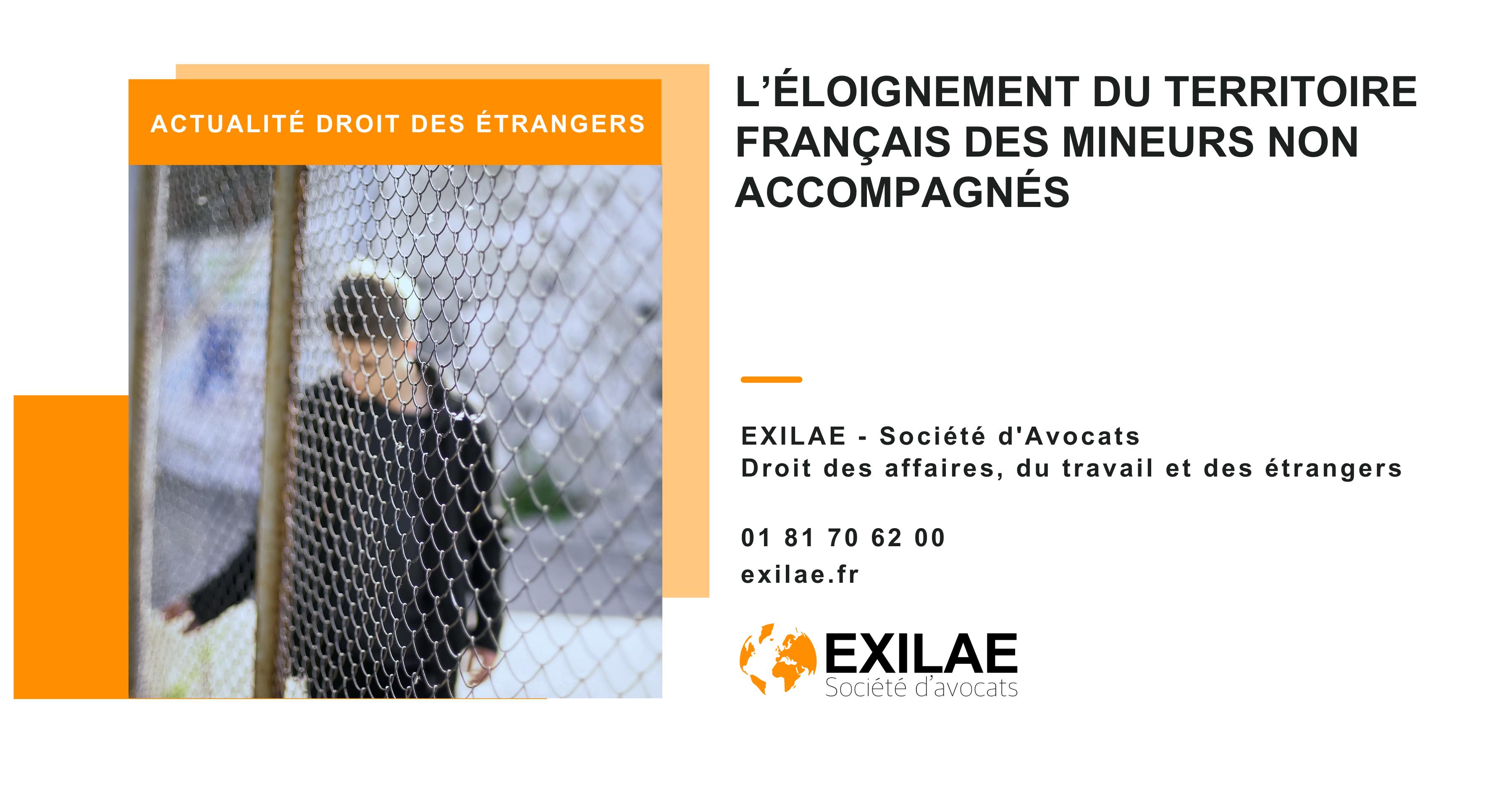 L'éloignement du territoire français des mineurs non accompagnés
