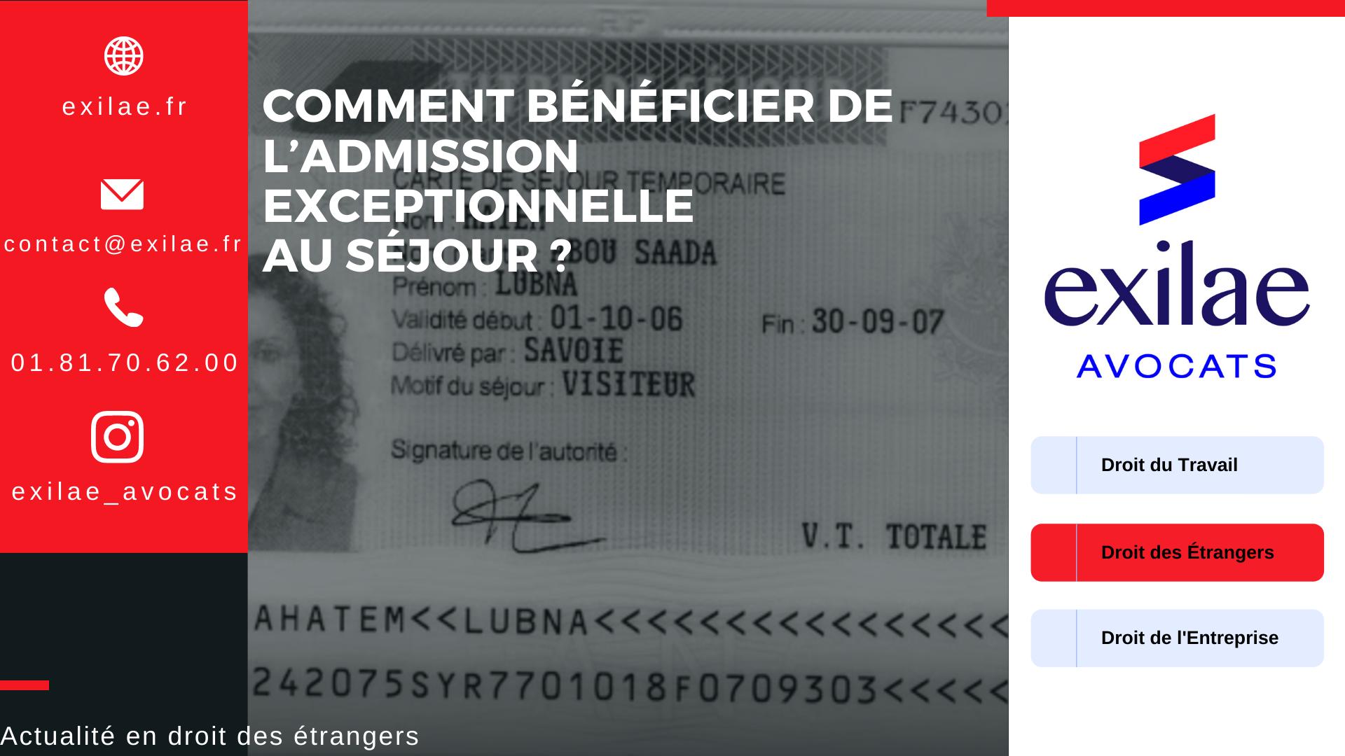 Changer d'employeur pour un titulaire d'une carte de séjour « passeport talent »