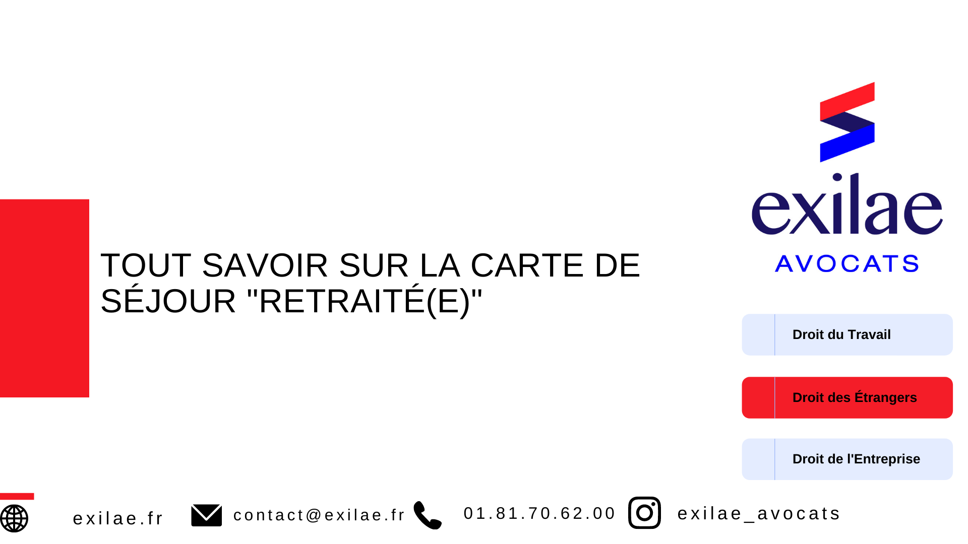"""La carte de séjour """"retraité(e)"""""""