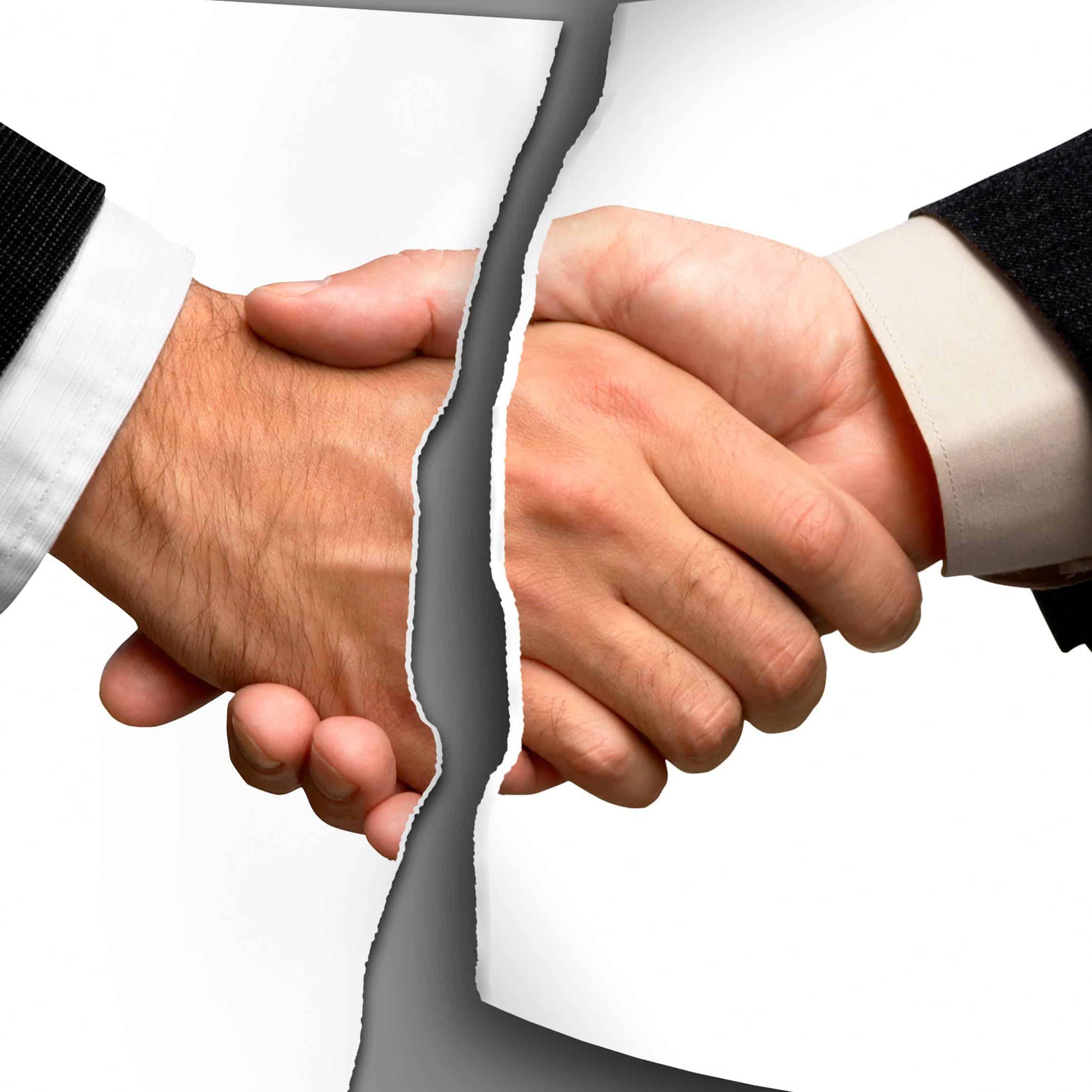 La rupture brutale des relations commerciales établies