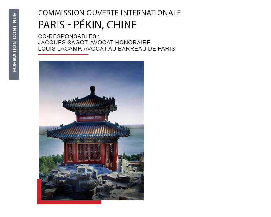 Maître Louis Lacamp désigné co-Président de la Commission Chine du Barreau de Paris