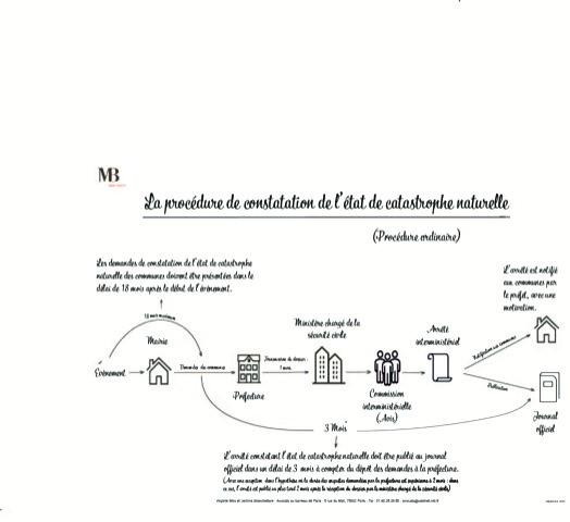 La constatation de l'état de catastrophe naturelle (schéma)