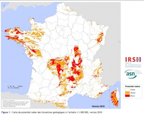 Gaz Radon : dans quelle zone se situe votre logement ?